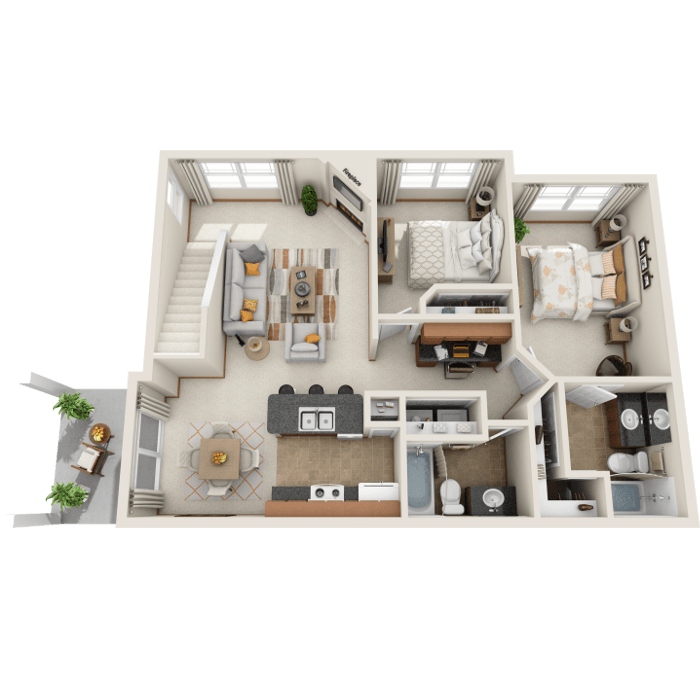 2 Bedroom Floor Plan - B