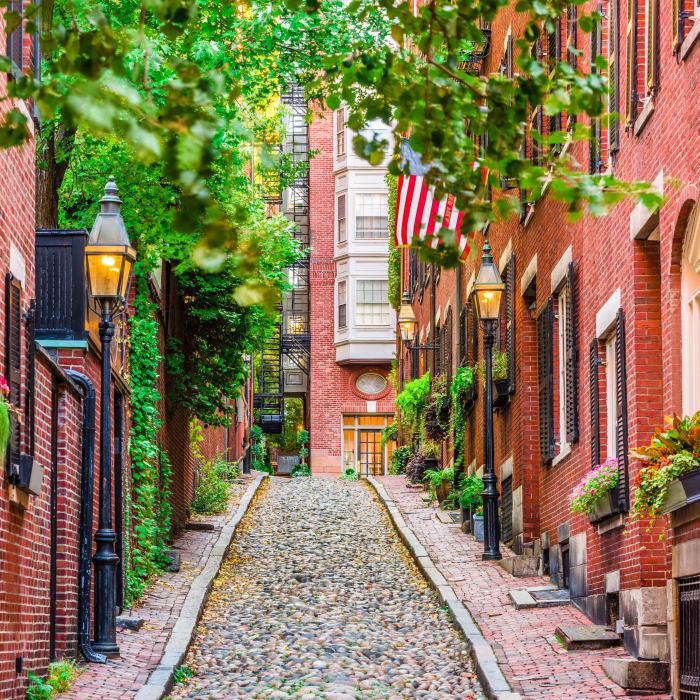 Alley near Burbank Apartments in Boston, Massachusetts