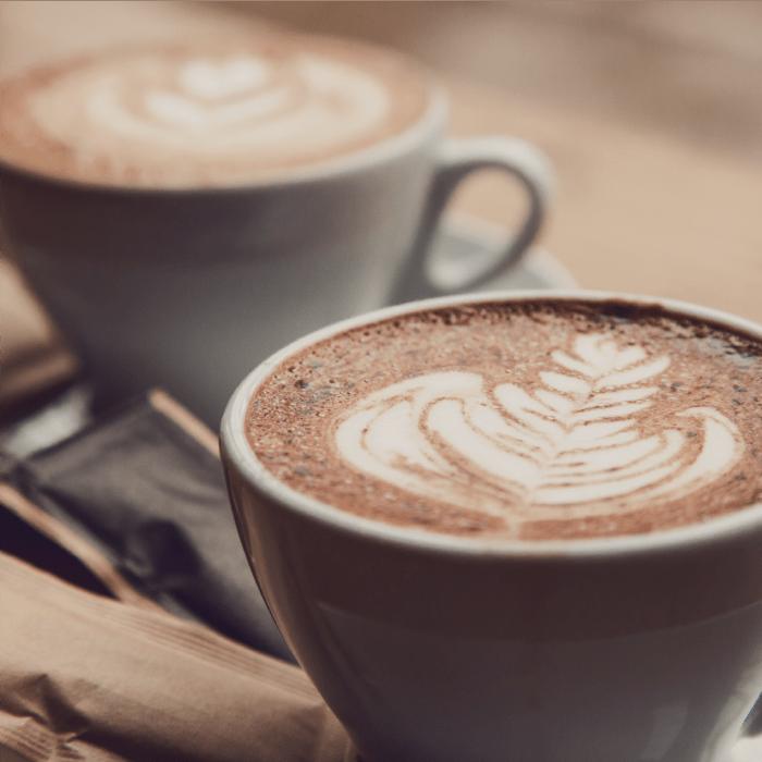 Hot coffee from a cafe near Park Hacienda Apartments in Pleasanton, California