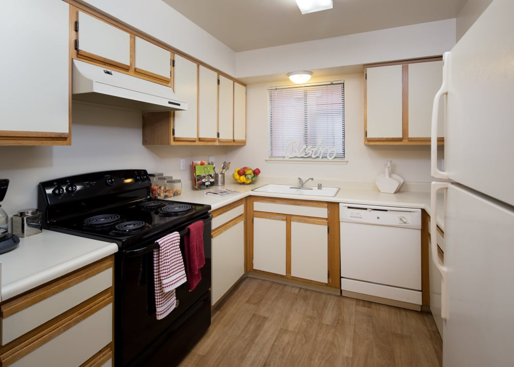 Fully equipped kitchens at Bennington Apartments