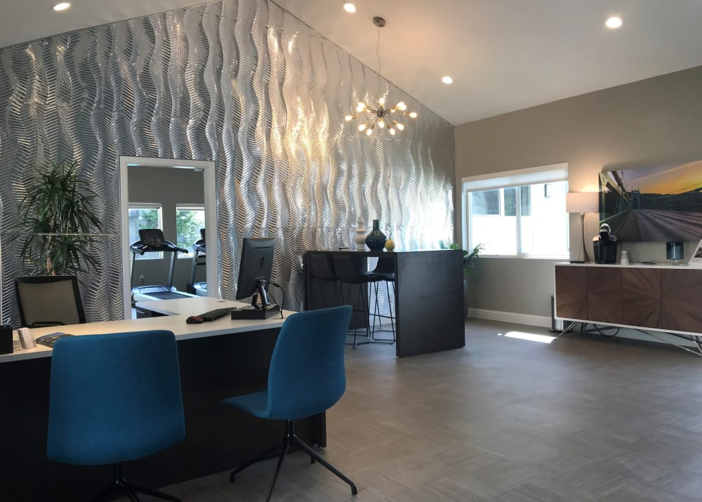 newly renovated leasing office