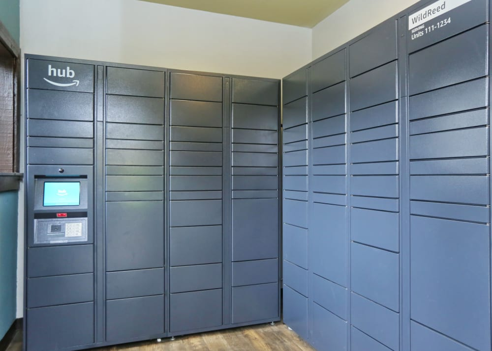 24-Hour Package lockers with Amazon HUB at Wildreed Apartments in Everett, WA