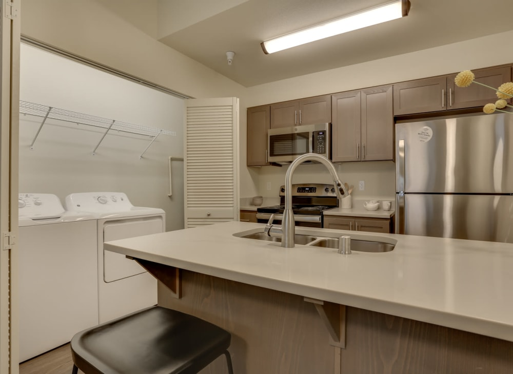 Modern appliances in the kitchen at Haven Hills in Vancouver, Washington