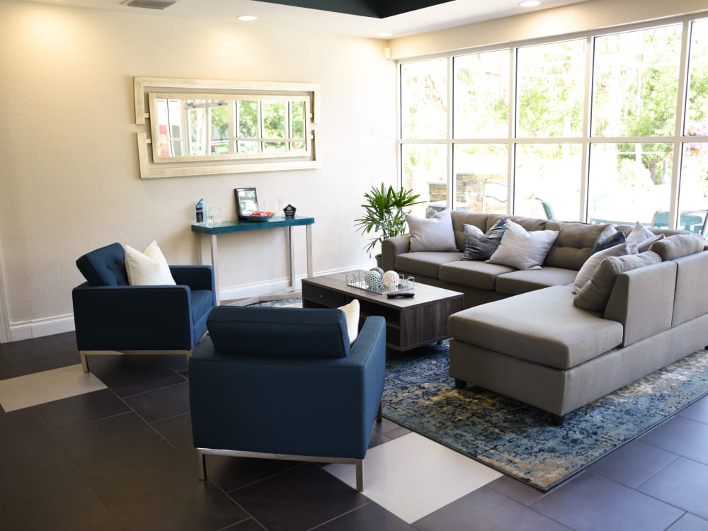 Lounge area at Meadow Brook Preserve in Naples, FL