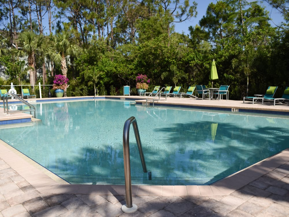 Clear pool at Meadow Brook Preserve in Naples, FL
