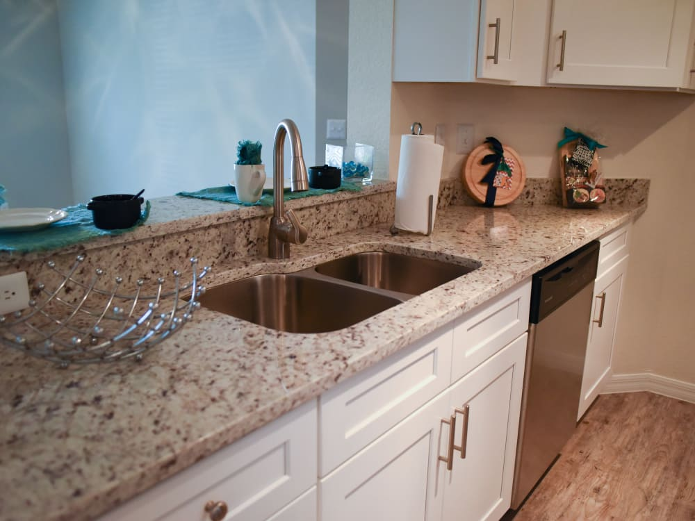 Bright kitchen at Meadow Brook Preserve in Naples, FL