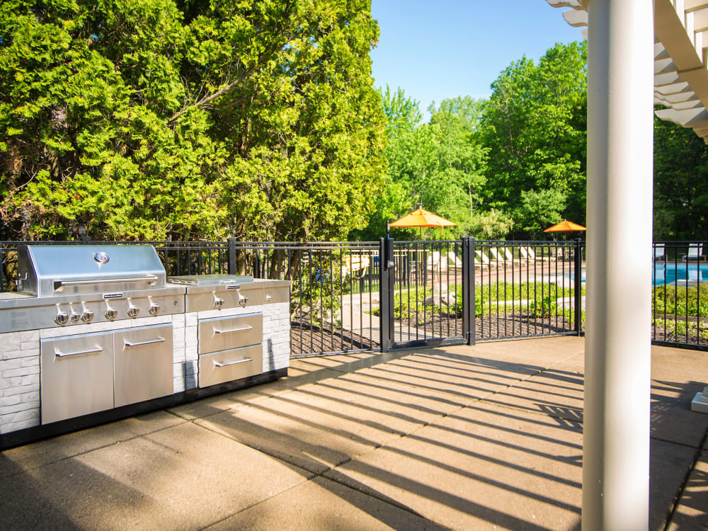 Outdoor Grill at Aldingbrooke in West Bloomfield, Michigan