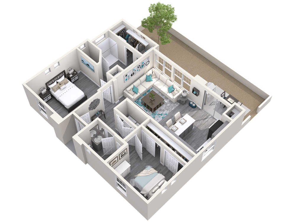 3D Floor plan of The Retreat at Avilla Prairie Center in Brighton, Colorado