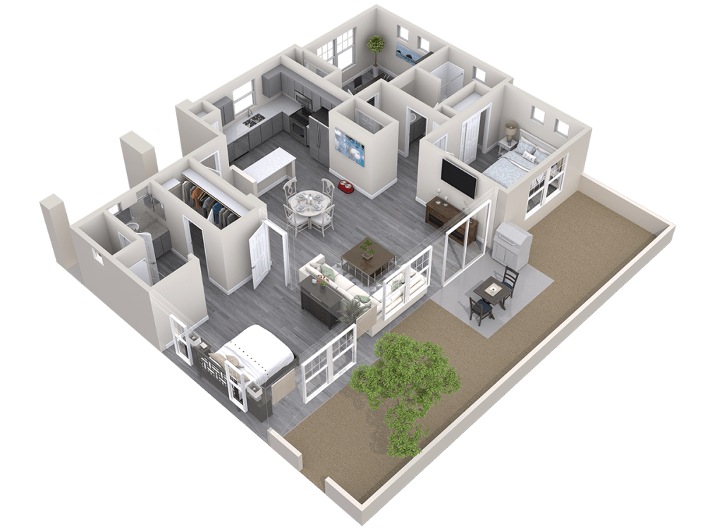 3D Floor plan of The Haven at Avilla Prairie Center in Brighton, Colorado