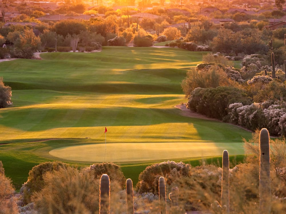 One of the world-class golf courses near San Marquis in Tempe, Arizona