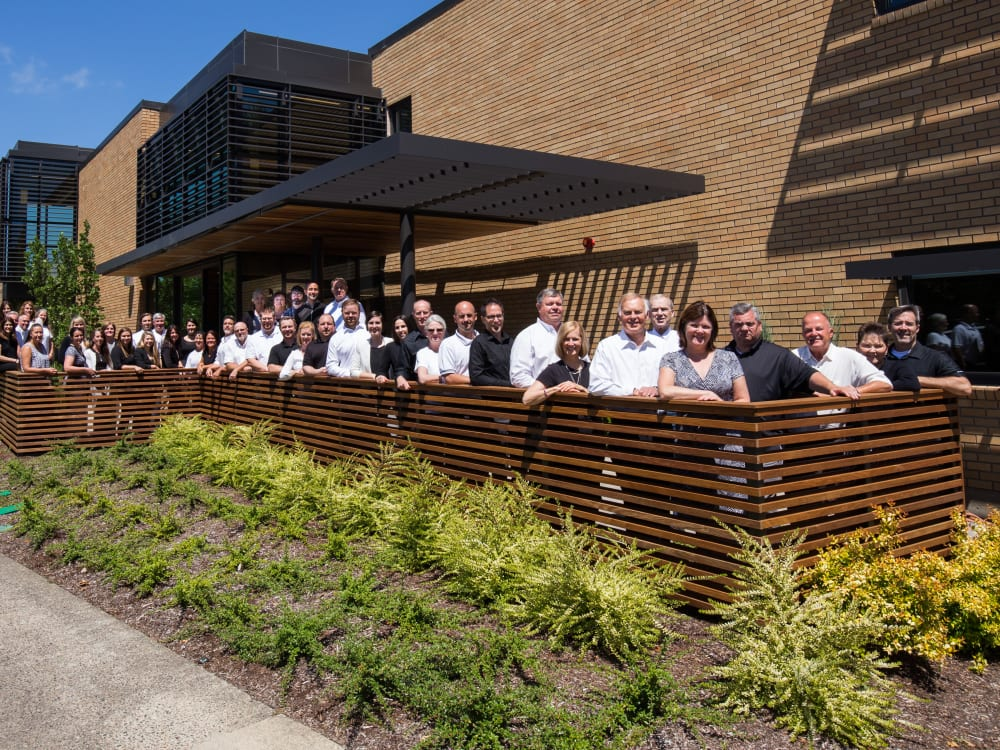The staff at Touchmark Central Office in Beaverton, Oregon