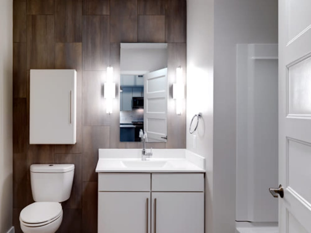 Large bathroom at Montgomery Mill Apartments in Windsor Locks, CT