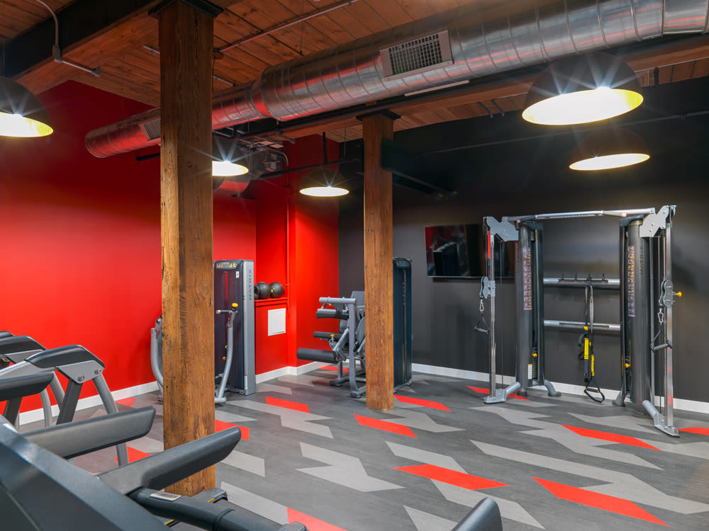 Fitness Center at Montgomery Mill Apartments in Windsor Locks, CT