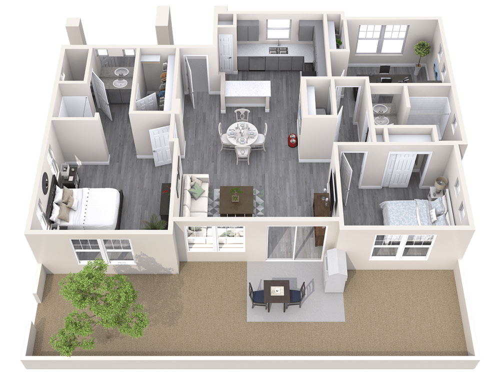 Avilla Gateway offers 3D floor plans in Phoenix, Arizona
