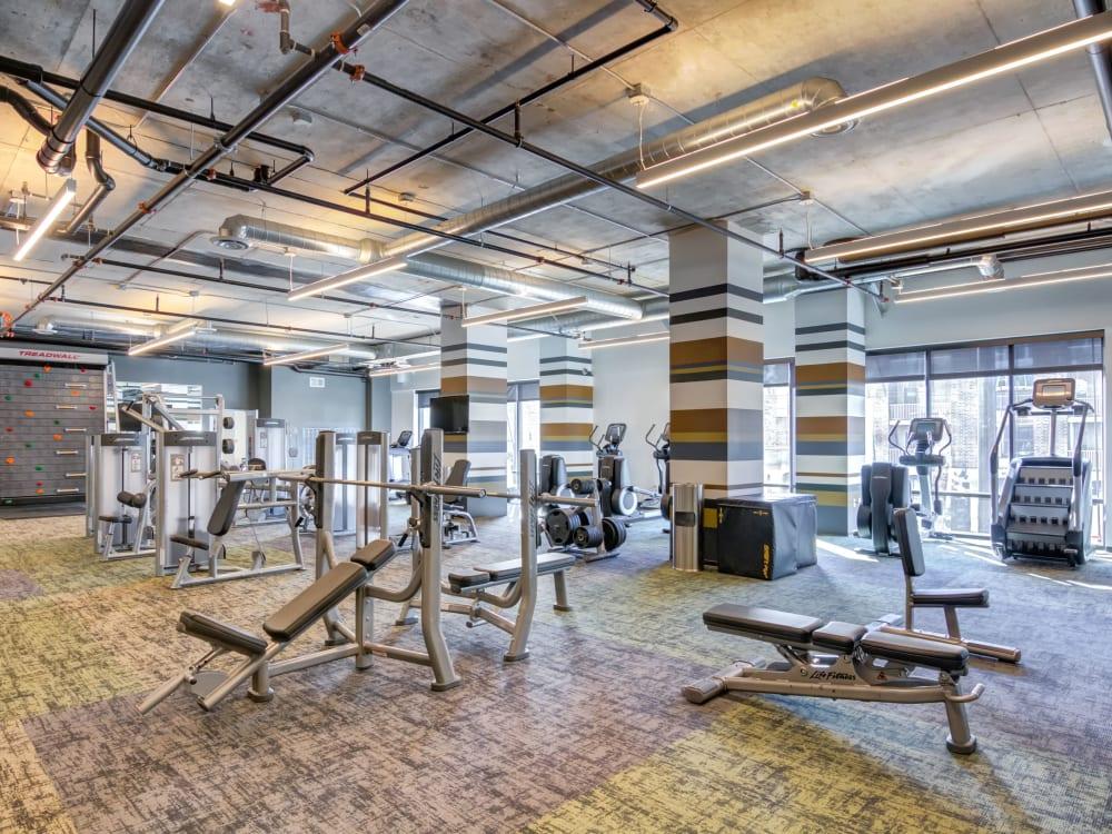 Fitness center at The Link Minneapolis in Minneapolis, Minnesota