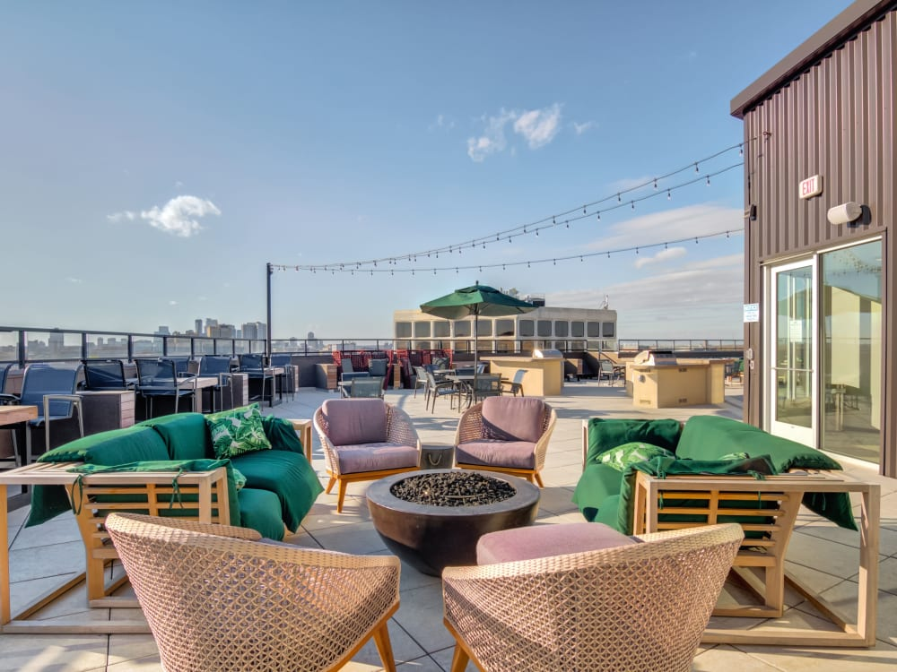 Rooftop lounge at The Link Minneapolis in Minneapolis, Minnesota