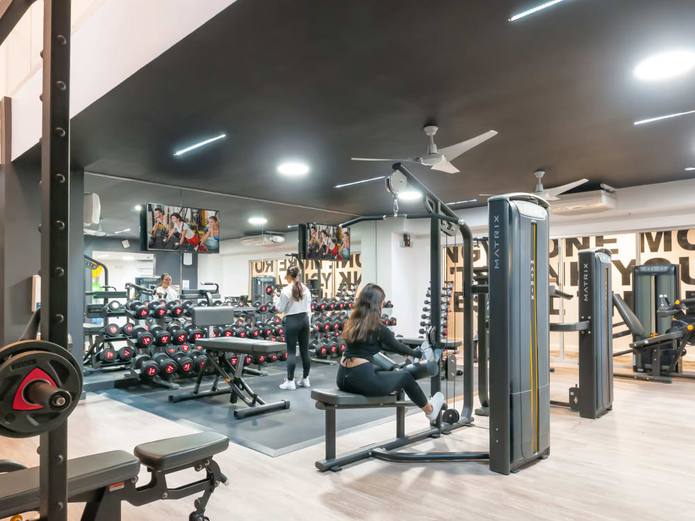 State-of-the-art fitness center at The Link University City in Philadelphia, Pennsylvania
