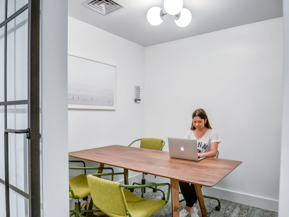 Private study space at The Link University City in Philadelphia, Pennsylvania