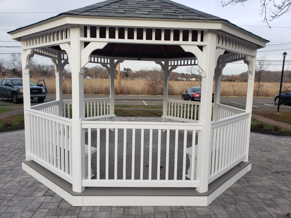 Gazebo close-up at Encore 99 in East Haven, Connecticut
