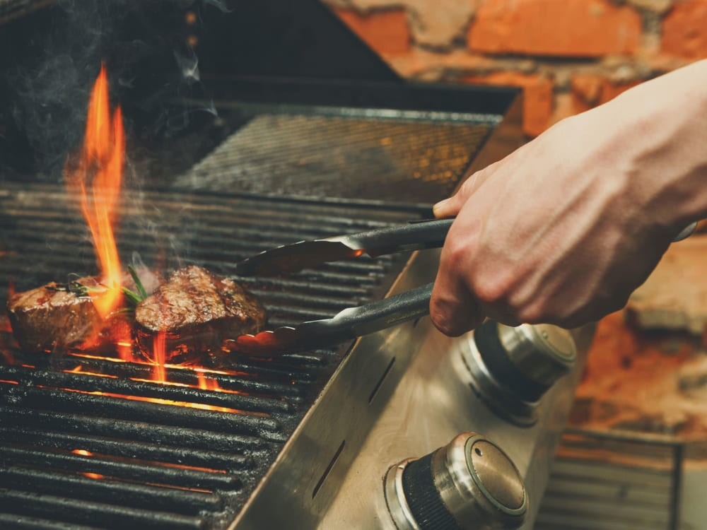 Grilling up lunch on a summer day at The Piedmont in Tempe, Arizona