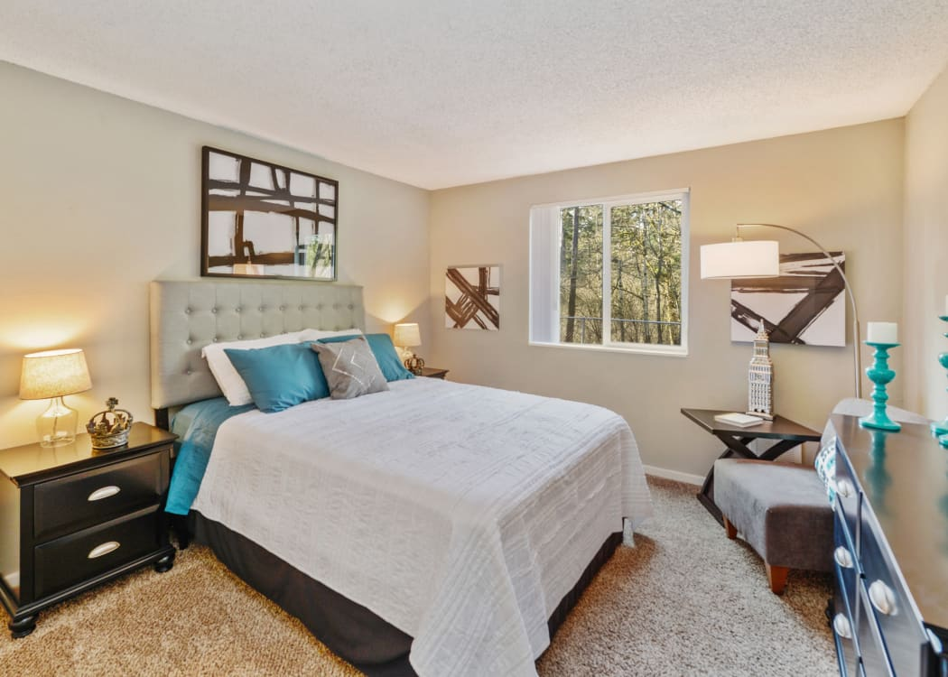 Spacious master bedroom with plenty of natural light at The Row in Kent