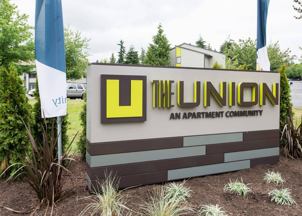 Our sign at The Union in Federal Way