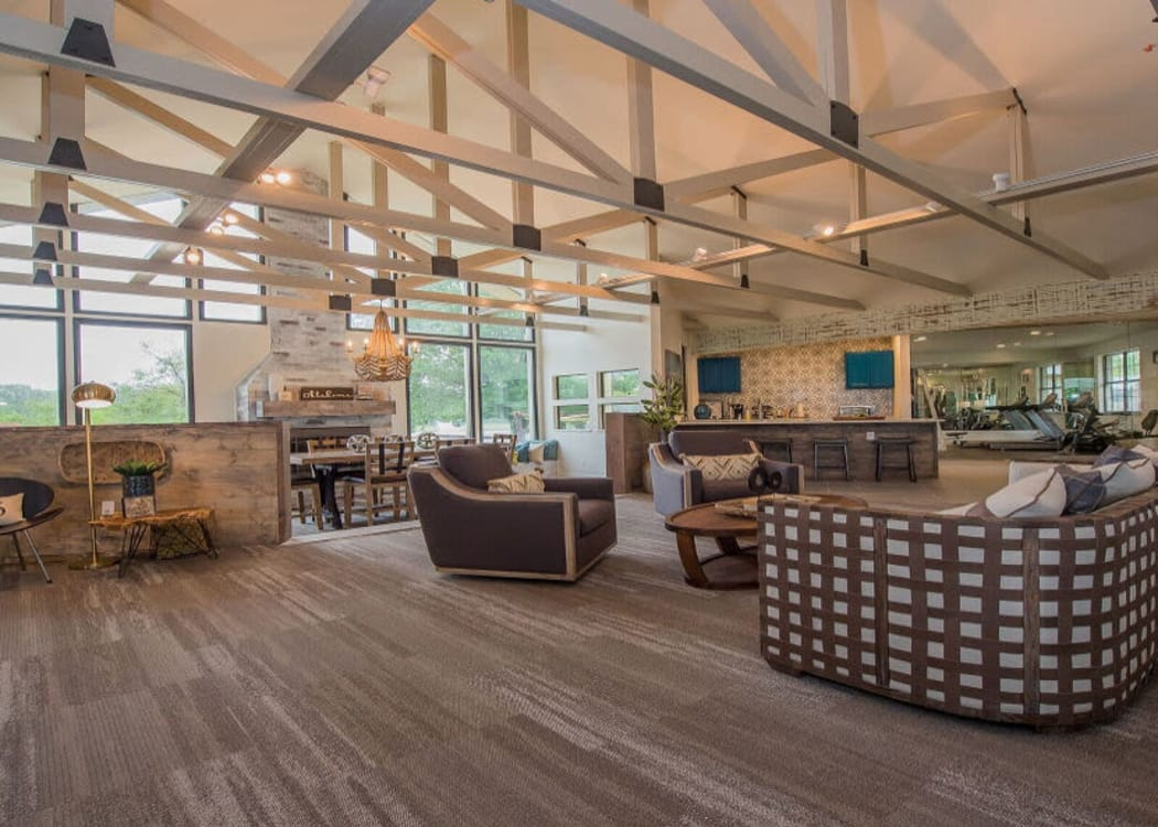 Spacious clubhouse at Waters Edge in Oklahoma City, Oklahoma