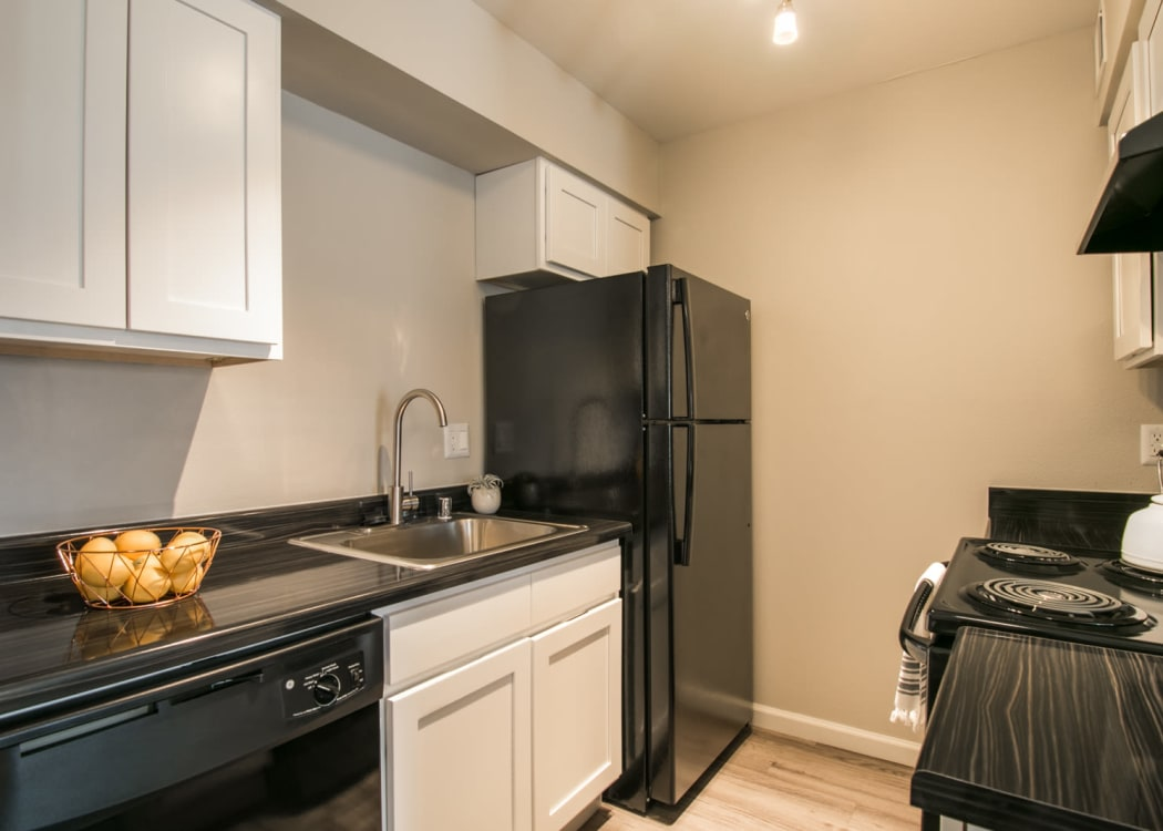 Our beautiful apartments in Albuquerque, New Mexico showcase a kitchen