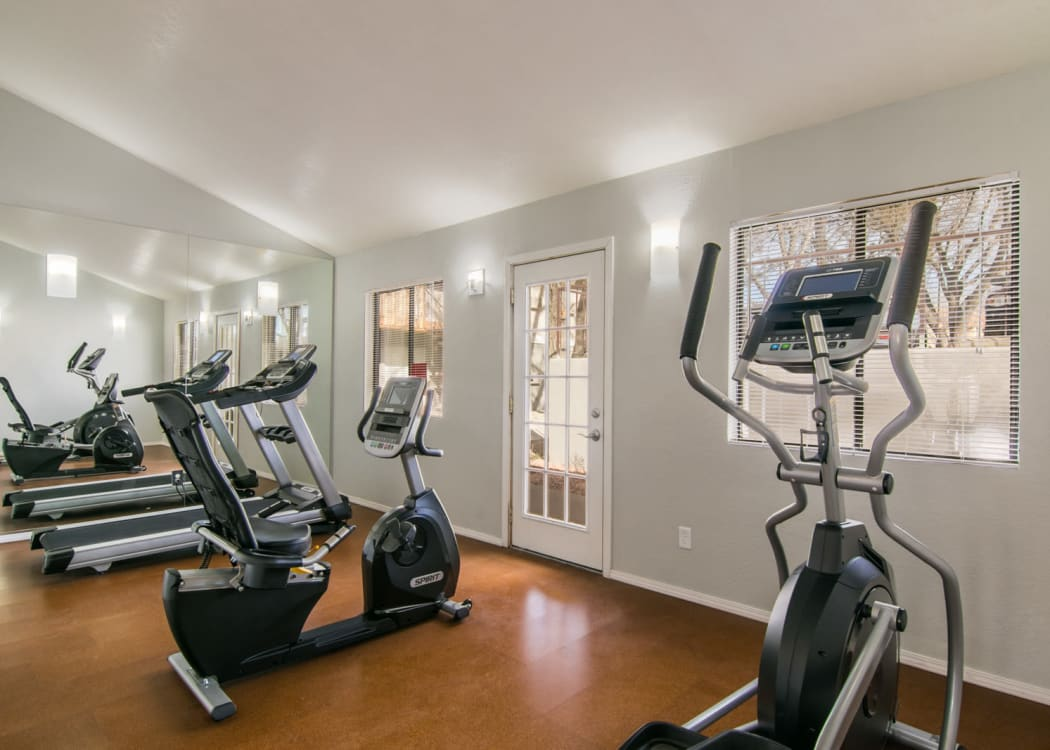 Our state-of-the-art apartments in Albuquerque, New Mexico showcase a fitness center