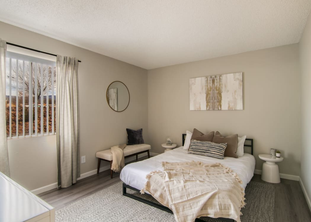 Our beautiful apartments in Albuquerque, New Mexico showcase a bedroom