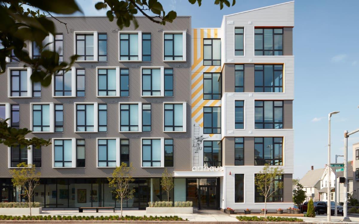 Exterior rendering of Arthaus Apartments in Allston, Massachusetts