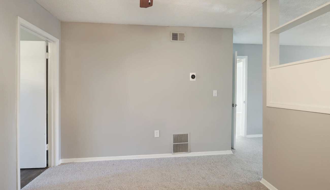 Freshly painted walls in an apartment at Alturas Embry Hills in Doraville, Georgia