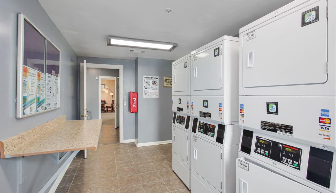 Onsite laundry facility at Wellington Point in Atlanta, Georgia