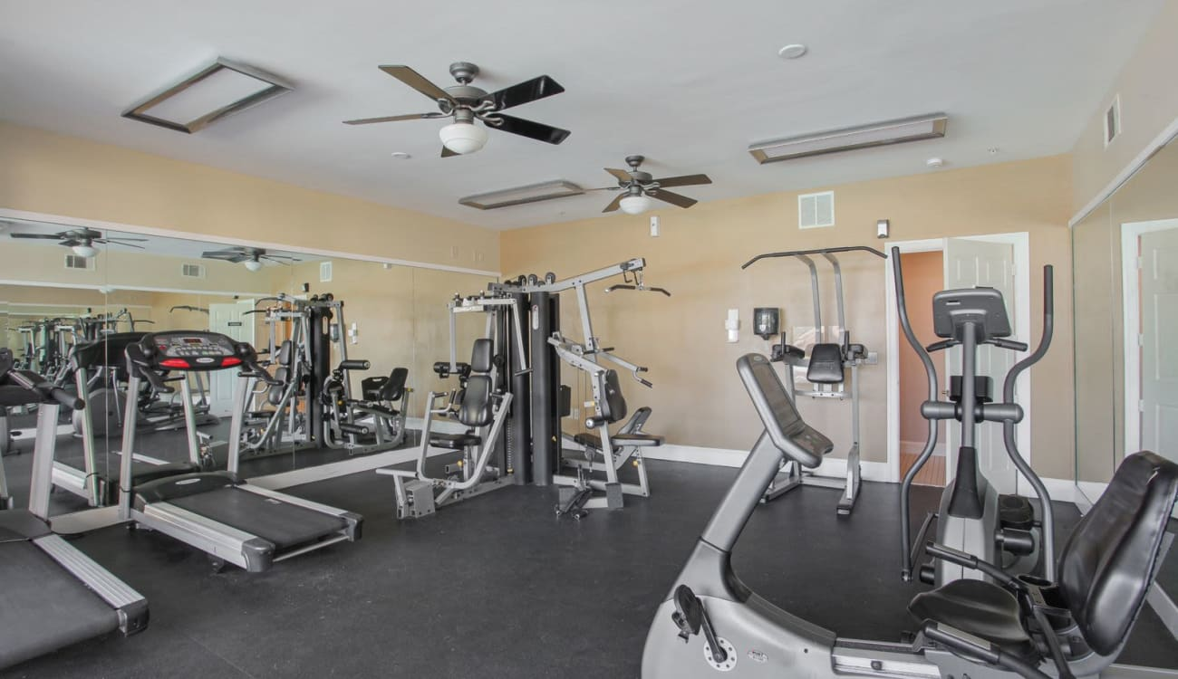 Fitness center at Wellington Point in Atlanta, Georgia