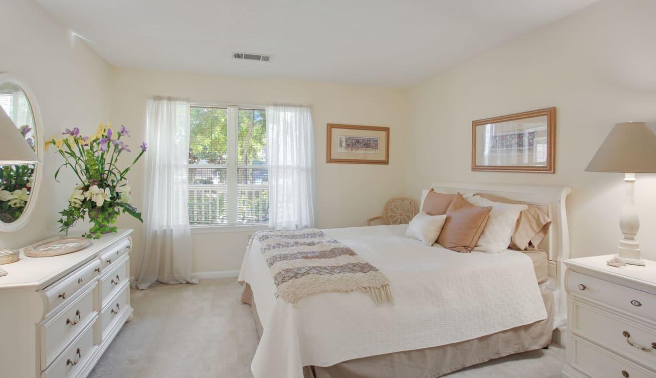 Bright, spacious bedroom at Wellington Point in Atlanta, Georgia