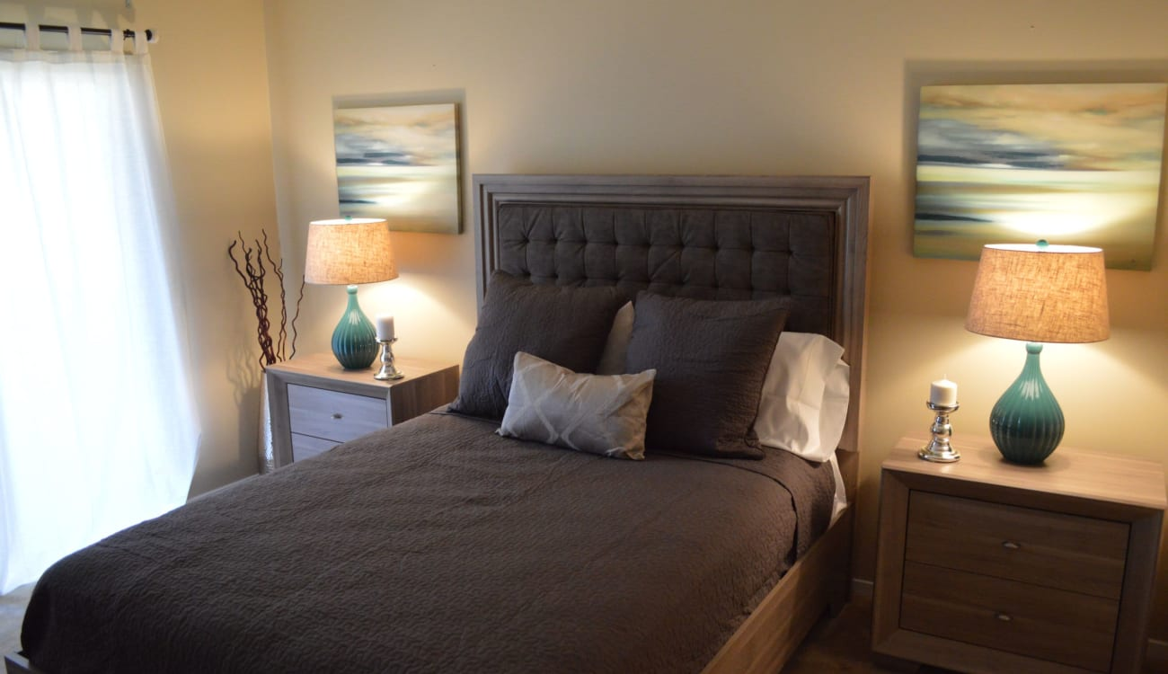 Primary bedroom at Reserve at Twin Oaks in Clarkston, Georgia
