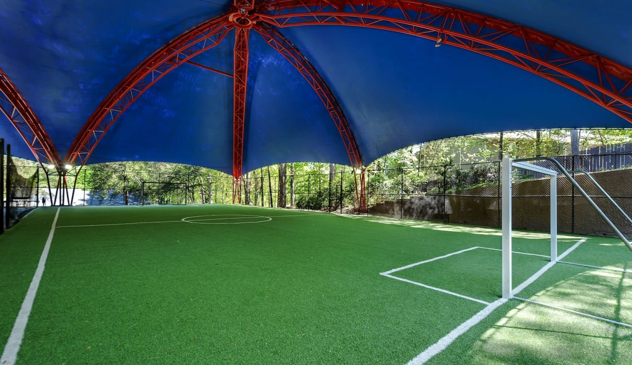 Covered soccer field at Forest Cove in Doraville, Georgia