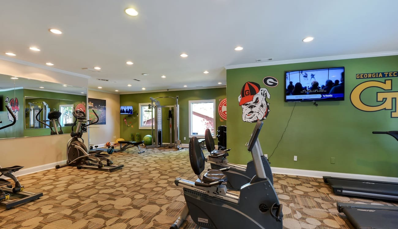 Fitness center at Forest Cove in Doraville, Georgia