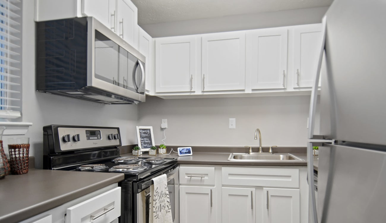 Fully equipped kitchen at Forest Cove in Doraville, Georgia