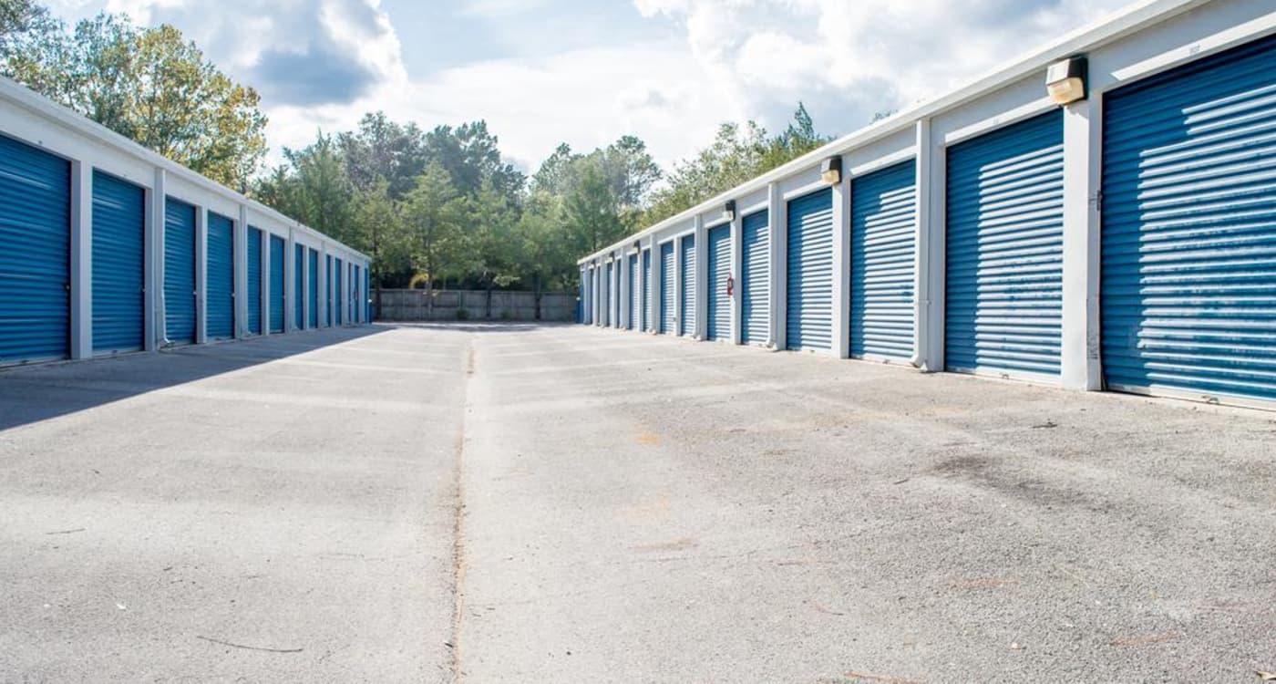 Exterior units at Atlantic Self Storage location in St. Augustine