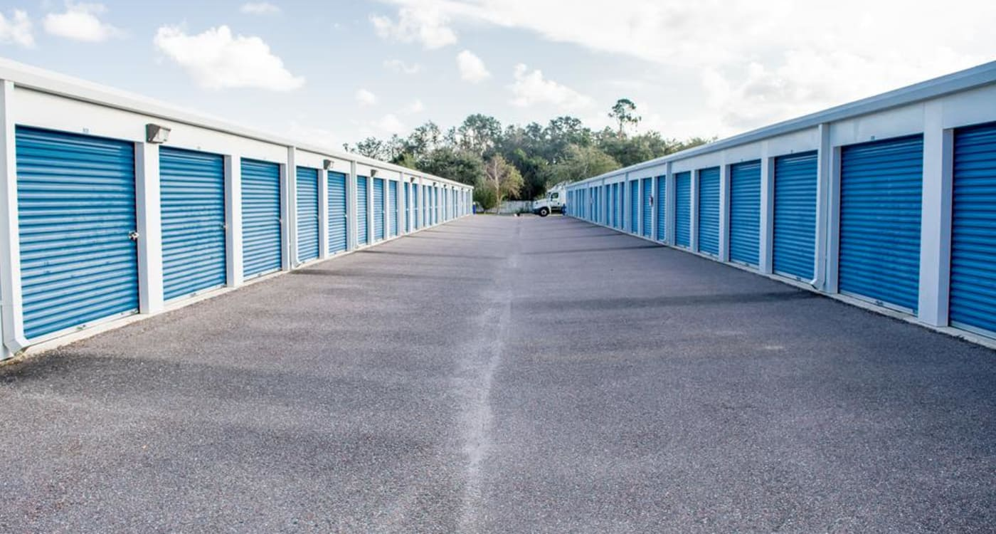 Exterior units at Atlantic Self Storage location in St Augustine