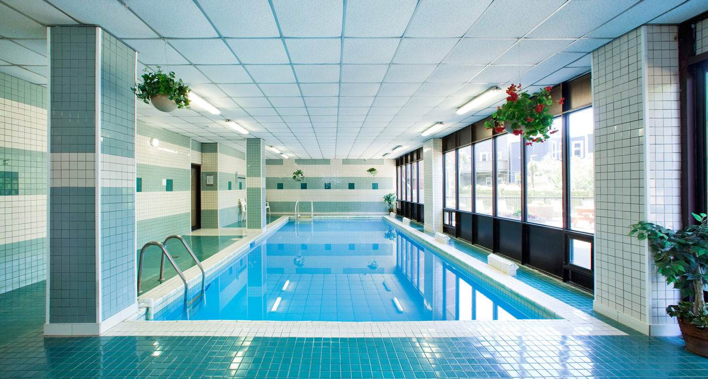 Beautiful indoor pool at MacDonald Apartments in Halifax