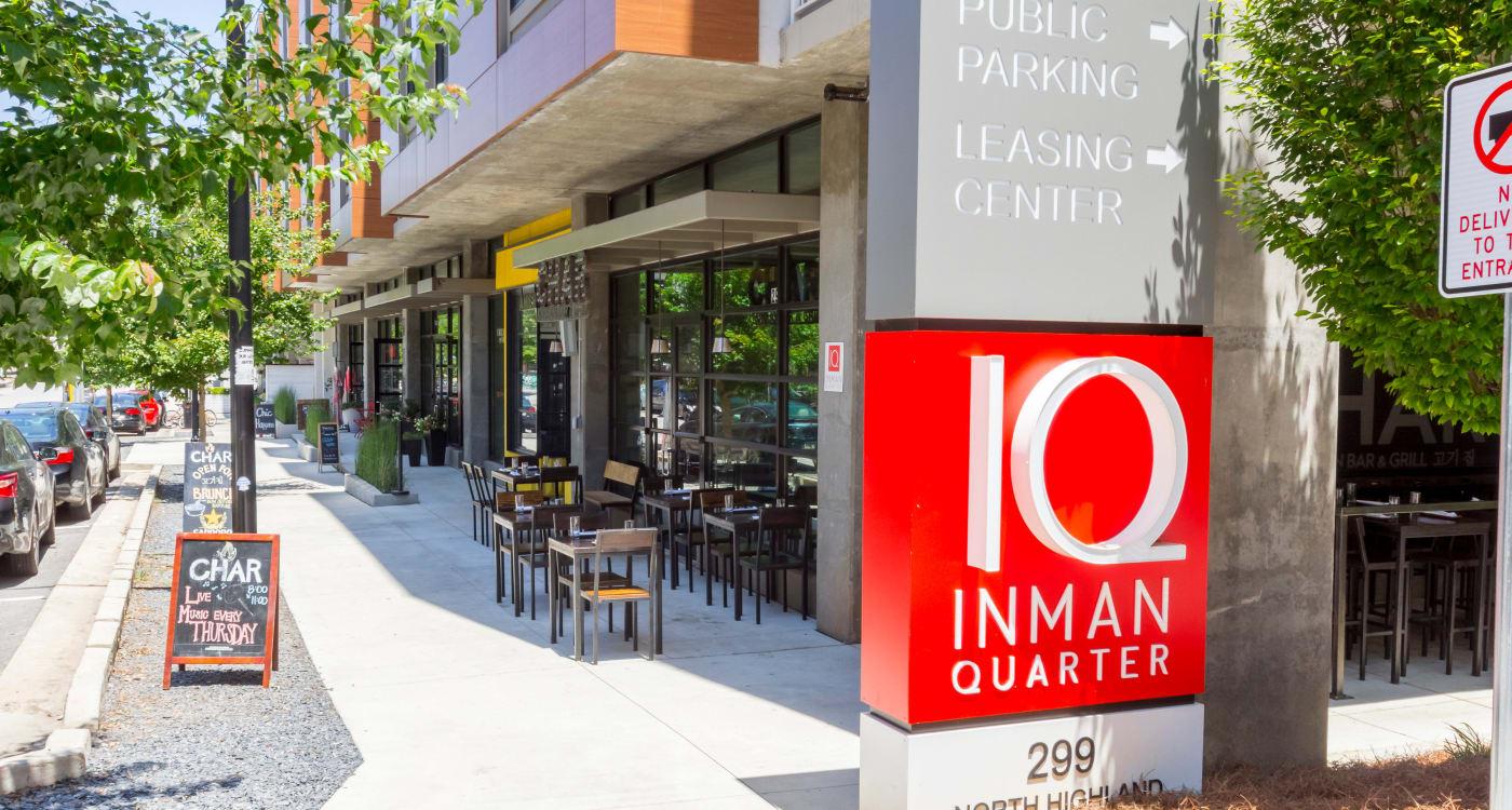 Front entry of Inman Quarter in Atlanta, Georgia