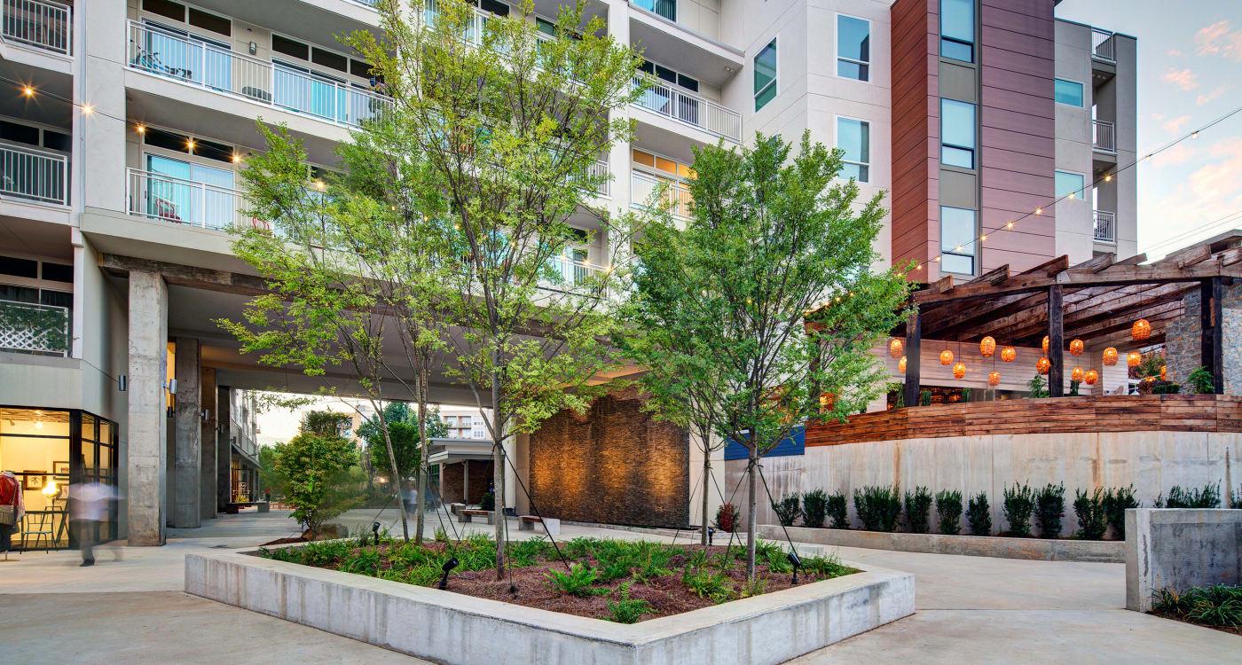 Courtyard rendering at Inman Quarter in Atlanta, Georgia