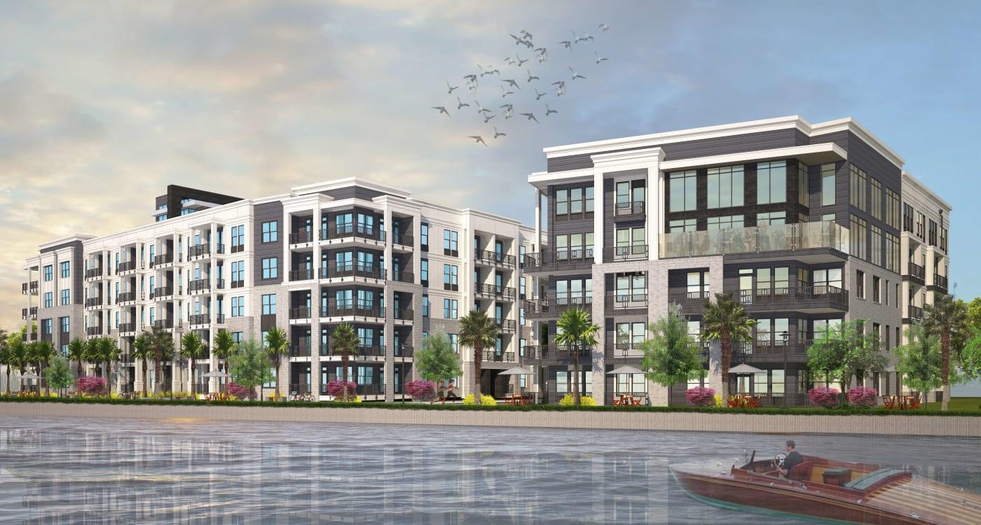 Riverfront rendering of Riverside St. Johns in Jacksonville, Florida