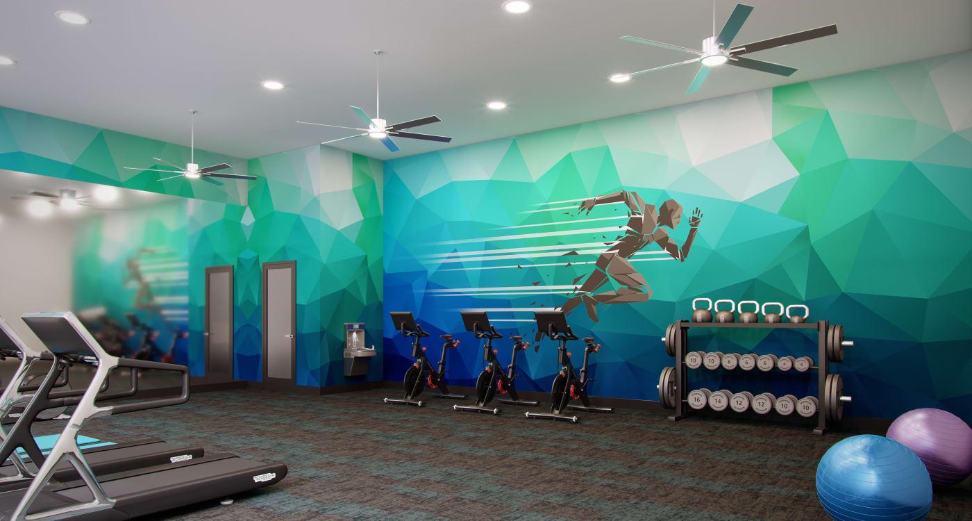 Fitness center at Riverside St. Johns in Jacksonville, Florida