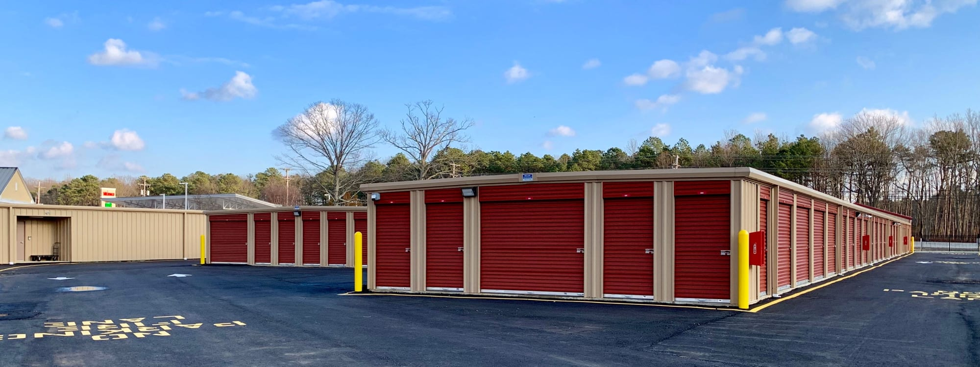 Self storage units at Storage Authority Monmouth Rd in Millstone Township, New Jersey.