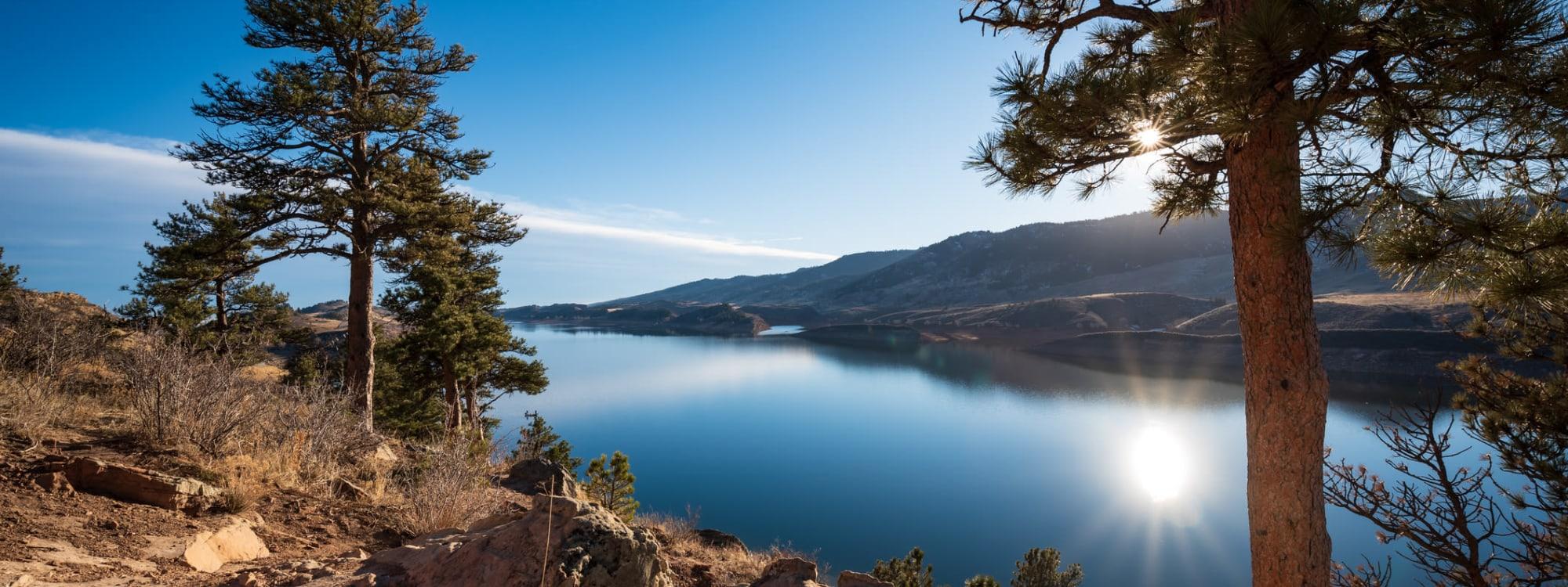 Panoramic view of Horsetooth Reservoir near STOR-N-LOCK Self Storage in Fort Collins, Colorado
