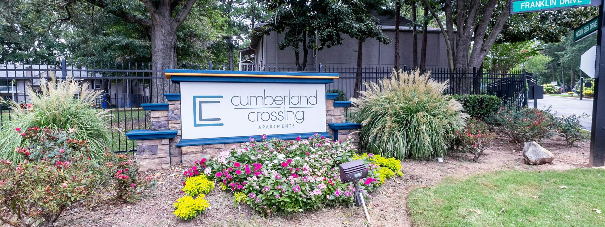 Floor plans at Cumberland Crossing in Marietta, Georgia