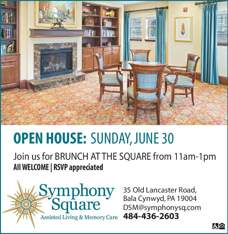 Flyer for an open house event at Symphony Square in Bala Cynwyd, Pennsylvania